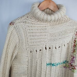 Anthropologie Moth Chunky Knit turtle neck sweater